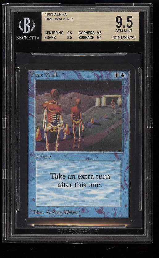 Image 1 of: 1993 Magic The Gathering MTG Alpha Power 9 Time Walk BGS 9.5 GEM MINT (PWCC)