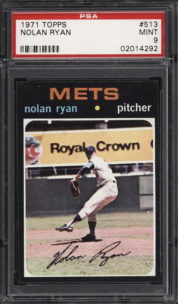 Image 1 of: 1971 Topps Nolan Ryan #513 PSA 9 MINT (PWCC)