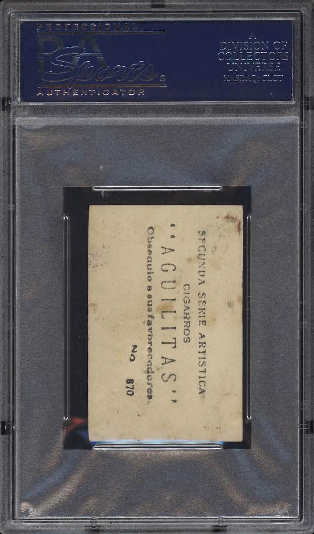 Image 2 of: 1924 Aguilitas Cigars 2nd Series John Henry 'Pop' Lloyd #870 PSA 2 GD (PWCC)