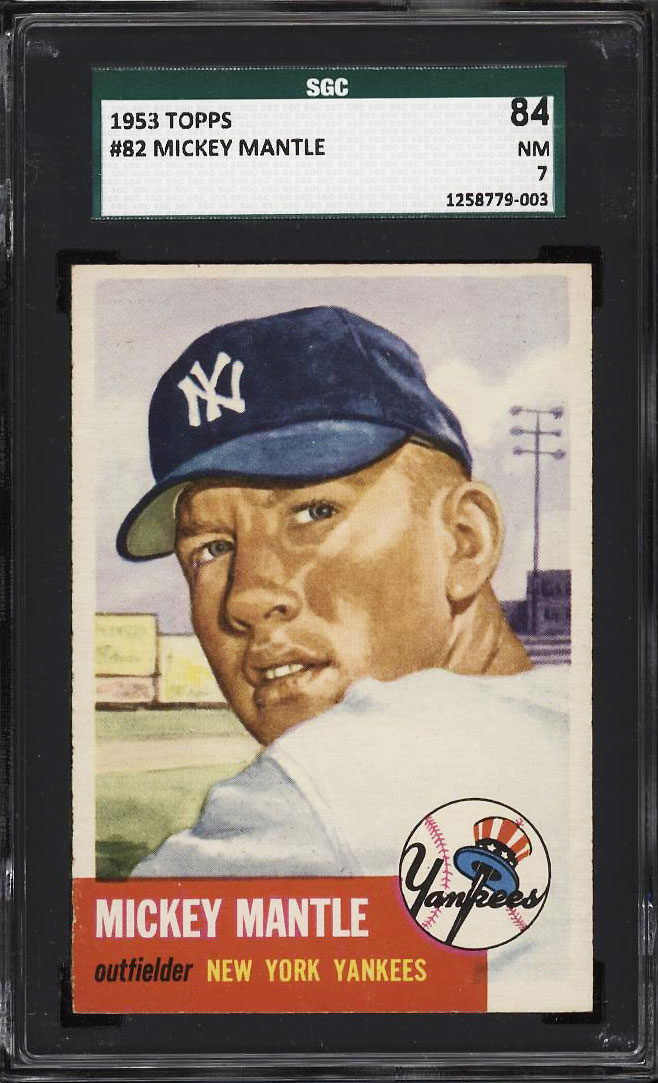 Image 1 of: 1953 Topps Mickey Mantle SHORT PRINT #82 SGC 84/7 NRMT (PWCC)