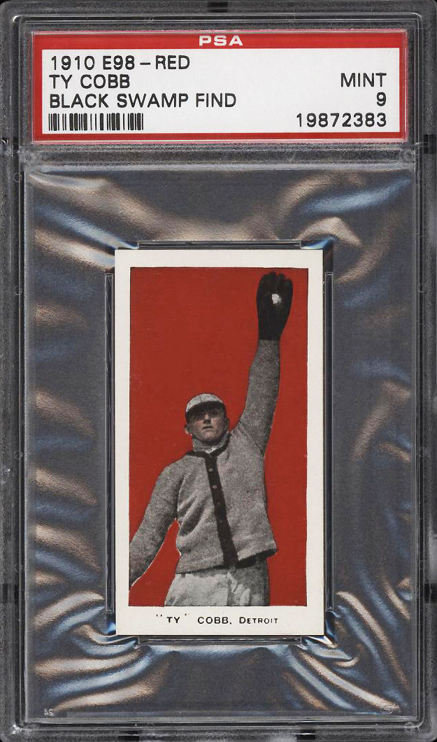 Image 1 of: 1910 E98 Set Of 30 Ty Cobb BLACK SWAMP FIND PSA 9 MINT (PWCC)