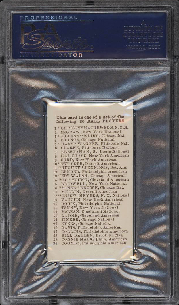 Image 2 of: 1910 E98 Set Of 30 Ty Cobb BLACK SWAMP FIND PSA 9 MINT (PWCC)