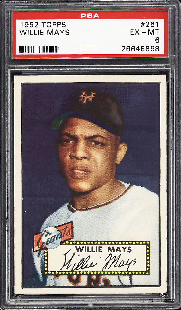 Image 1 of: 1952 Topps Willie Mays #261 PSA 6 EXMT (PWCC-PQ)