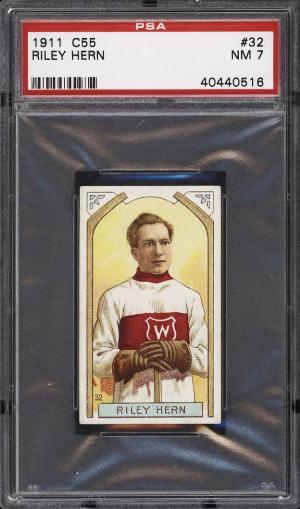 Image of: 1911 C55 Hockey Riley Hern #32 PSA 7 NRMT (PWCC)