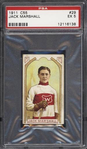 Image of: 1911 C55 Hockey Jack Marshall #29 PSA 5 EX (PWCC)