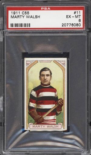 Image of: 1911 C55 Hockey Marty Walsh #11 PSA 6 EXMT (PWCC)