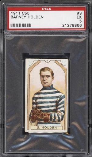 Image of: 1911 C55 Hockey Barney Holden #3 PSA 5 EX (PWCC)