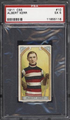 Image of: 1911 C55 Hockey Albert Kerr ROOKIEE RC #10 PSA 5 EX (PWCC)