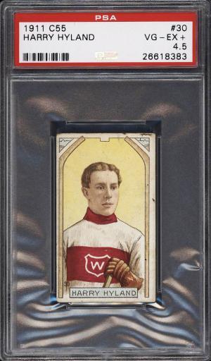 Image of: 1911 C55 Hockey Harry Hyland #30 PSA 4.5 VGEX+ (PWCC)