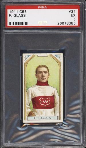 Image of: 1911 C55 Hockey Frank Glass #34 PSA 5 EX (PWCC)