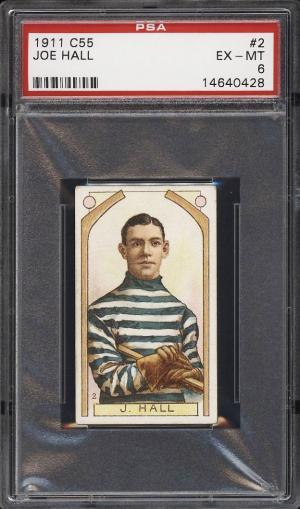 Image of: 1911 C55 Hockey Joe Hall ROOKIE RC #2 PSA 6 EXMT (PWCC)