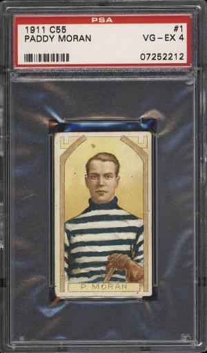 Image of: 1911 C55 Hockey Paddy Moran #1 PSA 4 VGEX (PWCC)