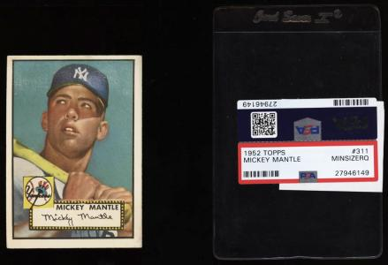 Image of: 1952 Topps Mickey Mantle #311 PSA Minimum Size, VGEX (PWCC)