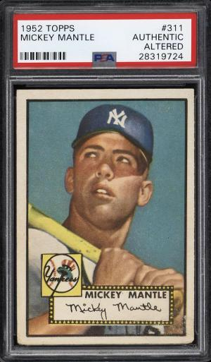 Image of: 1952 Topps Mickey Mantle #311 PSA Auth, Altered (PWCC)