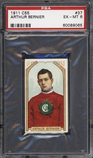 Image of: 1911 C55 Hockey Arthur Bernier #37 PSA 6 EXMT (PWCC)