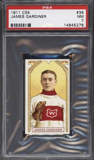 Image of: 1911 C55 Hockey James Gardiner ROOKIE RC #36 PSA 7 NRMT (PWCC)