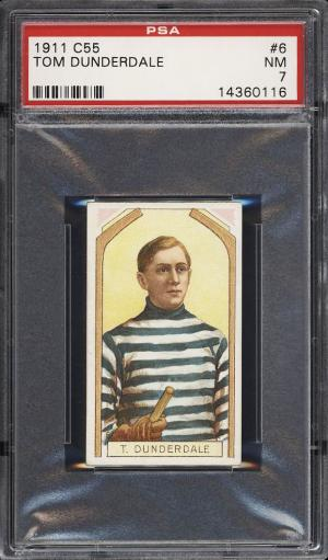 Image of: 1911 C55 Hockey Tom Dunderdale #6 PSA 7 NRMT (PWCC)