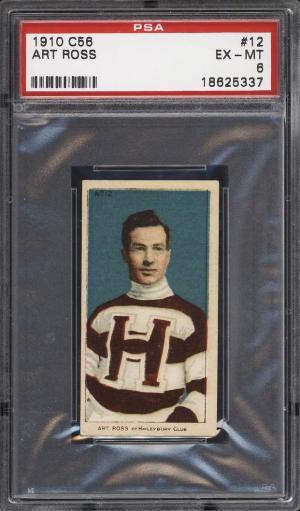 Image of: 1910 C56 Hockey Art Ross ROOKIE RC #12 PSA 6 EXMT (PWCC)