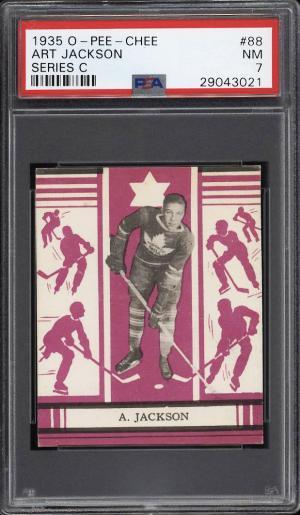 Image of: 1935 O-Pee-Chee Hockey Series C Art Jackson #88 PSA 7 NRMT (PWCC)