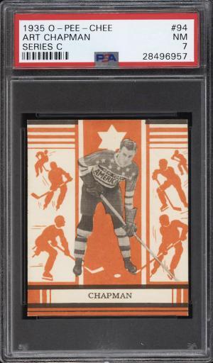 Image of: 1935 O-Pee-Chee Hockey Series C Art Chapman #94 PSA 7 NRMT (PWCC)