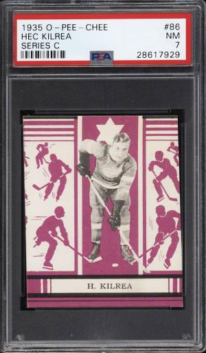 Image of: 1935 O-Pee-Chee Hockey Series C Hec Kilrea #86 PSA 7 NRMT (PWCC)