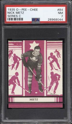 Image of: 1935 O-Pee-Chee Hockey Series C Nick Metz #84 PSA 7 NRMT (PWCC)