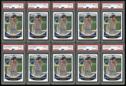 Image of: Lot(66) 2013 Bowman DP & Prospects Aaron Judge ROOKIE RC, ALL PSA 10 GEM (PWCC)