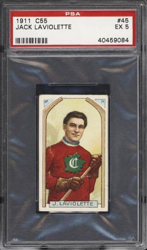 Image of: 1911 C55 Hockey Jack Laviolette #45 PSA 5 EX (PWCC)
