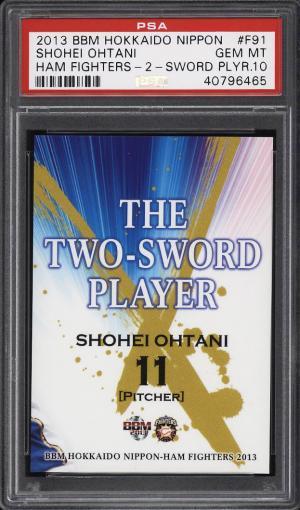 Image of: 2013 BBM Hokkaido Nippon Ham Fighters 2 Sword Shohei Ohtani ROOKIE PSA 10 (PWCC)