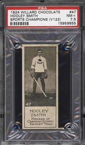 Image of: 1924 V122 Willard Chocolate Hockey Hooley Smith #47 PSA 7.5 NRMT+ (PWCC)