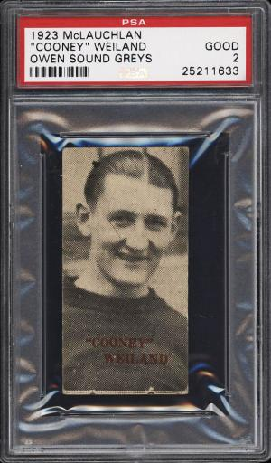 Image of: 1923 McLauchlan Owen Sound Greys Hockey Cooney Weiland PSA 2 GD (PWCC)