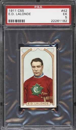 Image of: 1911 C55 Hockey Newsy Lalonde #42 PSA 5 EX (PWCC)