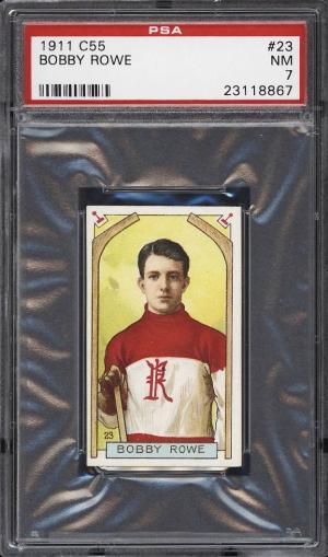 Image of: 1911 C55 Hockey Bobby Rowe #23 PSA 7 NRMT (PWCC)