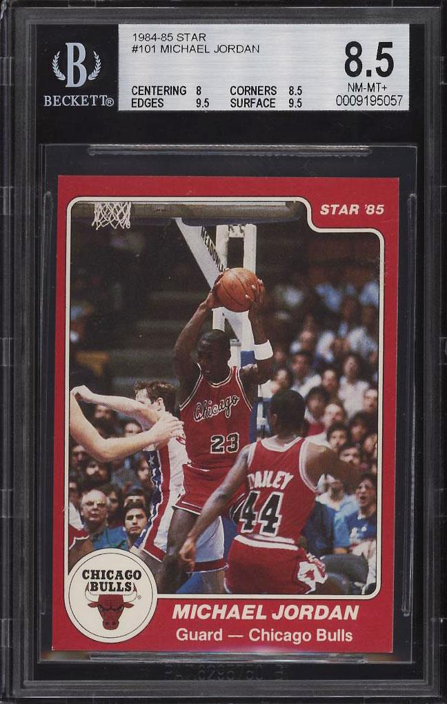 Image 1 of: 1984-85 Star Basketball Michael Jordan ROOKIE RC #101 BGS 8.5 NM-MT+ (PWCC)
