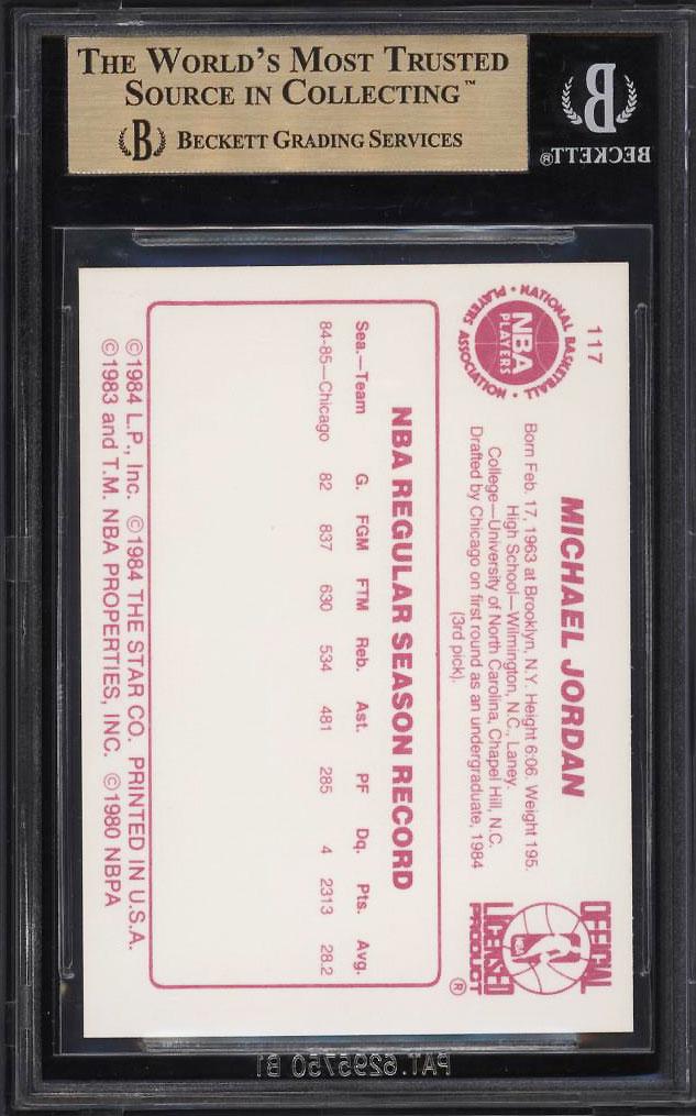 Image 2 of: 1985-86 Star Basketball Michael Jordan ROOKIE RC #117 BGS 10 PRISTINE (PWCC)