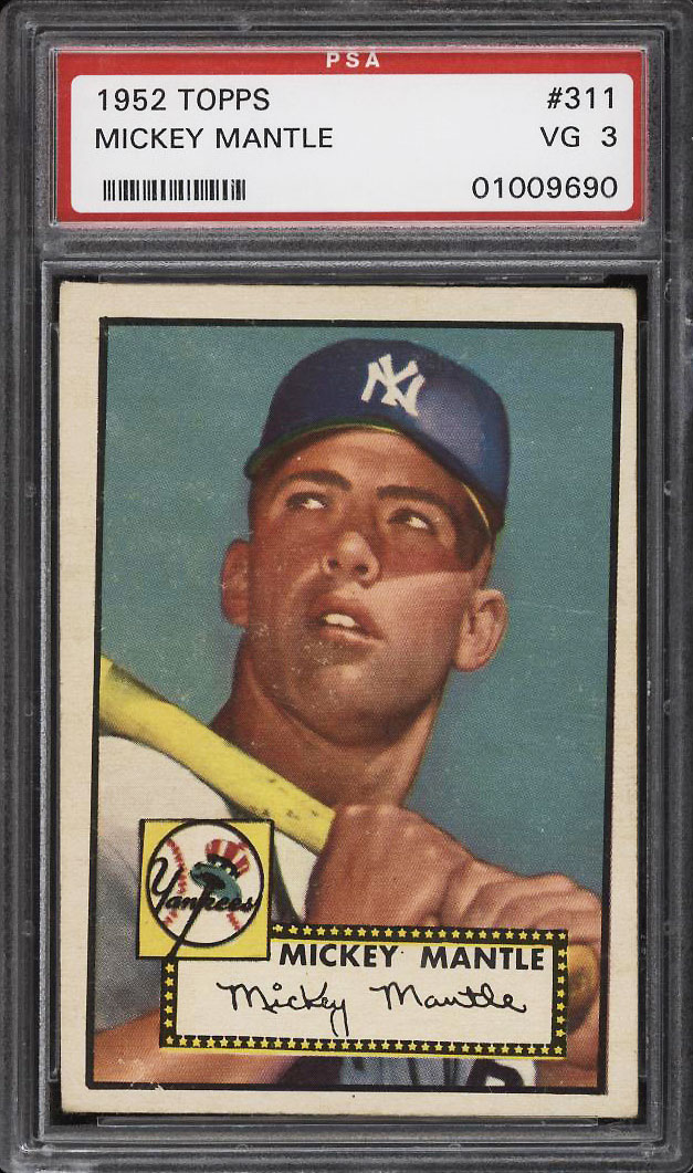 Image 1 of: 1952 Topps Mickey Mantle #311 PSA 3 VG (PWCC)