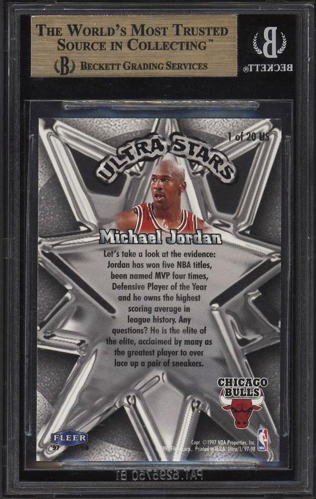 Image 2 of: 1997 Ultra Stars Gold Michael Jordan #1 BGS 9.5 GEM MINT (PWCC)