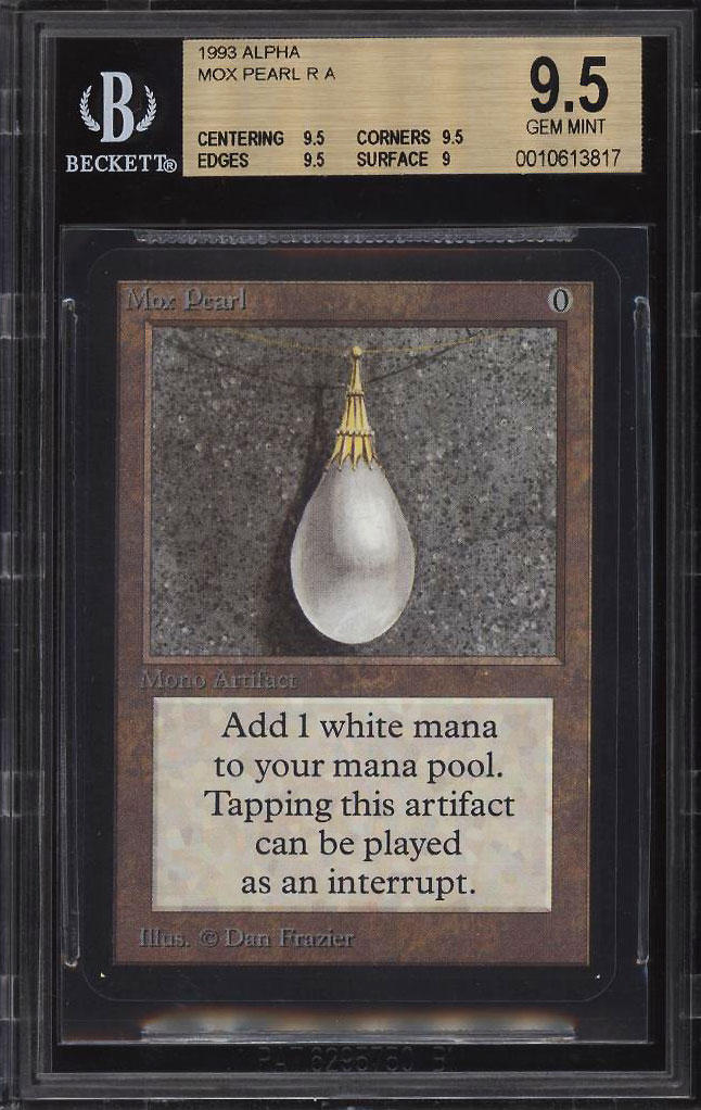 Image 1 of: 1993 Magic The Gathering MTG Alpha Mox Pearl R A BGS 9.5 GEM MINT (PWCC)