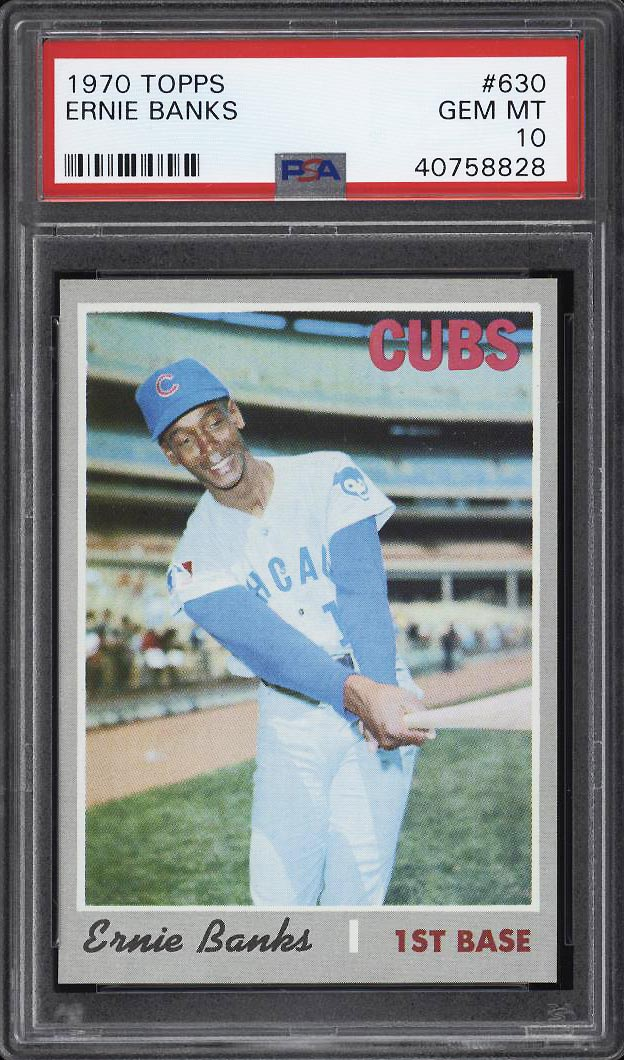Image 1 of: 1970 Topps Ernie Banks #630 PSA 10 GEM MINT (PWCC)