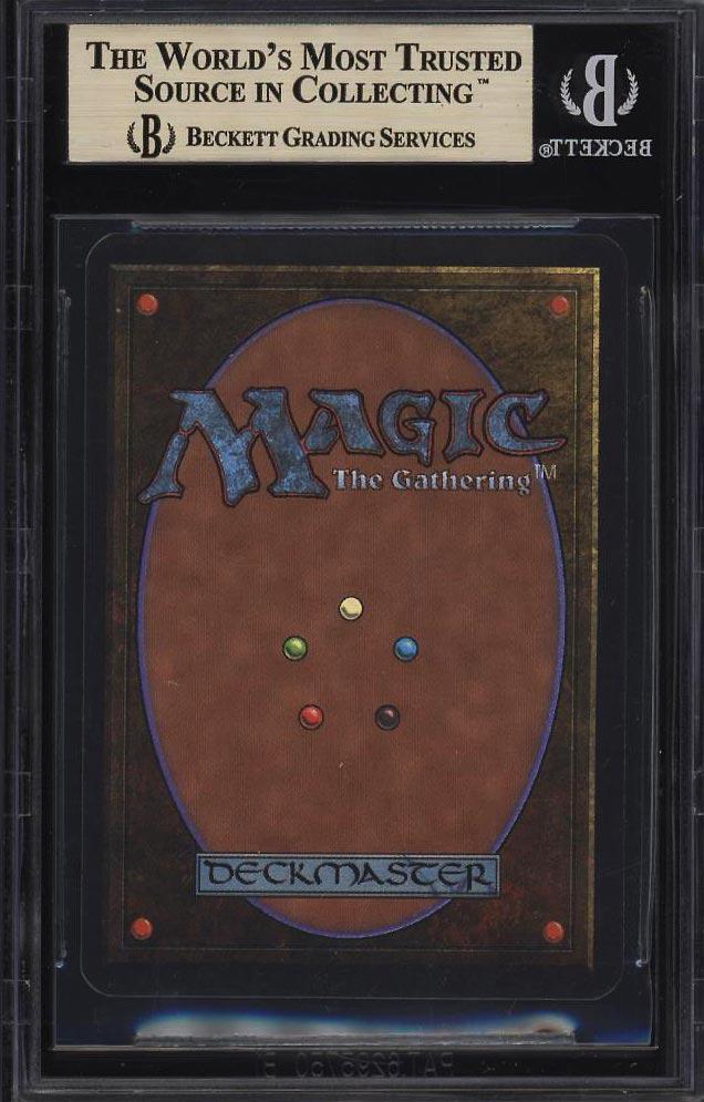 Image 2 of: 1993 Magic The Gathering MTG Alpha Dual Land Underground Sea R L BGS 9.5 (PWCC)
