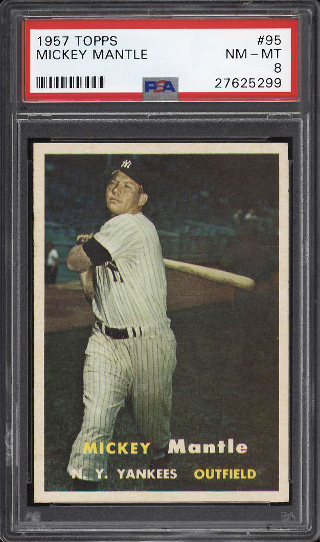 Image 1 of: 1957 Topps Mickey Mantle #95 PSA 8 NM-MT (PWCC-PQ)