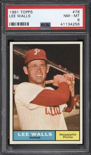 Image of: 1961 Topps Lee Walls #78 PSA 8 NM-MT (PWCC)