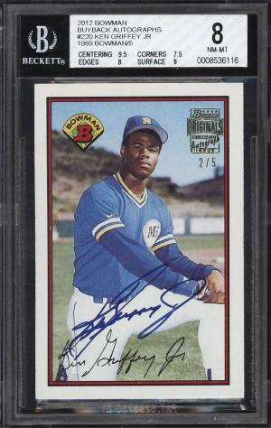 f05e293b59 4768, Image of: 1989 Bowman Originals '12 Buy Back Ken Griffey Jr. RC AUTO