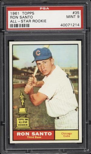 Image of: 1961 Topps Ron Santo ROOKIE RC #35 PSA 9 MINT (PWCC)