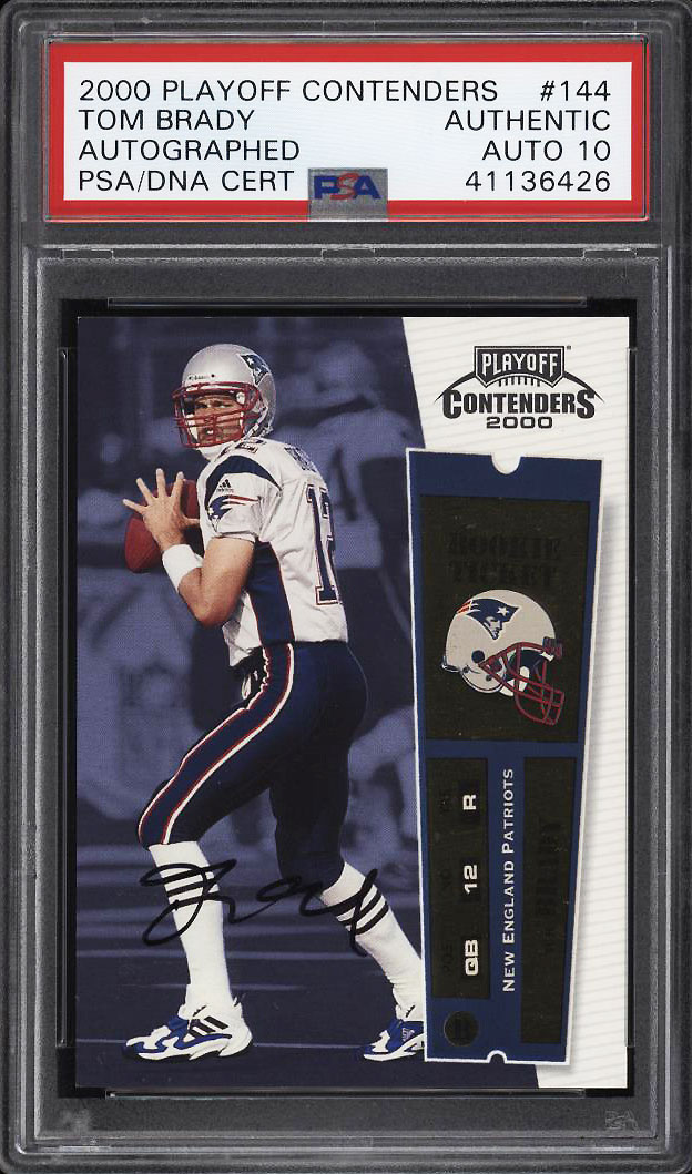 Image 1 of: 2000 Playoff Contenders Tom Brady ROOKIE RC PSA/DNA 10 AUTO #144 PSA Auth (PWCC)