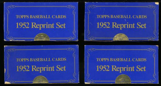 Image of: Lot(9) 1983 Topps 1952 Reprint Factory Sealed Set, Mickey Mantle #311 (PWCC)