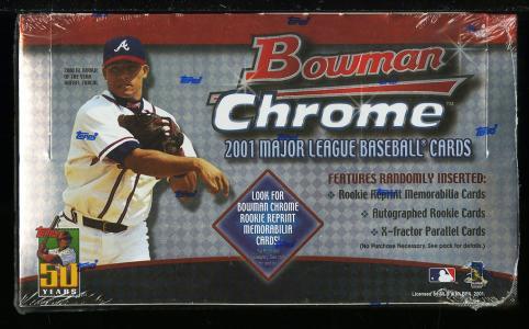 Image of: 2001 Bowman Chrome Factory Sealed Box, 24ct Packs, Ichiro Pujols ROOKIE? (PWCC)