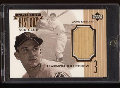 Image of: 1999 Upper Deck Piece Of History Harmon Killebrew BAT PATCH #573HR (PWCC)