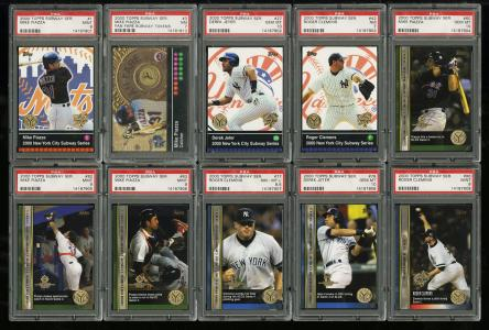 Image of: Lot(15) 2000 Topps Subway Series w/ Clemens Piazza Jeter Token, PSA 9 10 (PWCC)