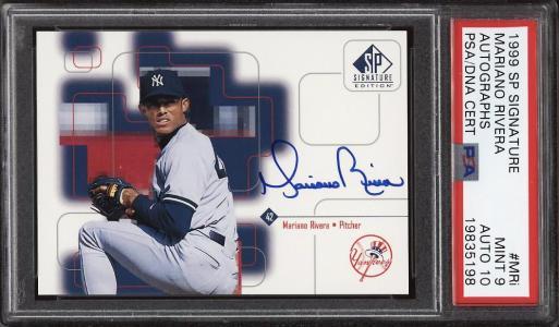 Image of: 1999 SP Signature Edition Mariano Rivera PSA/DNA 10 AUTO #MRi PSA 9 MINT (PWCC)